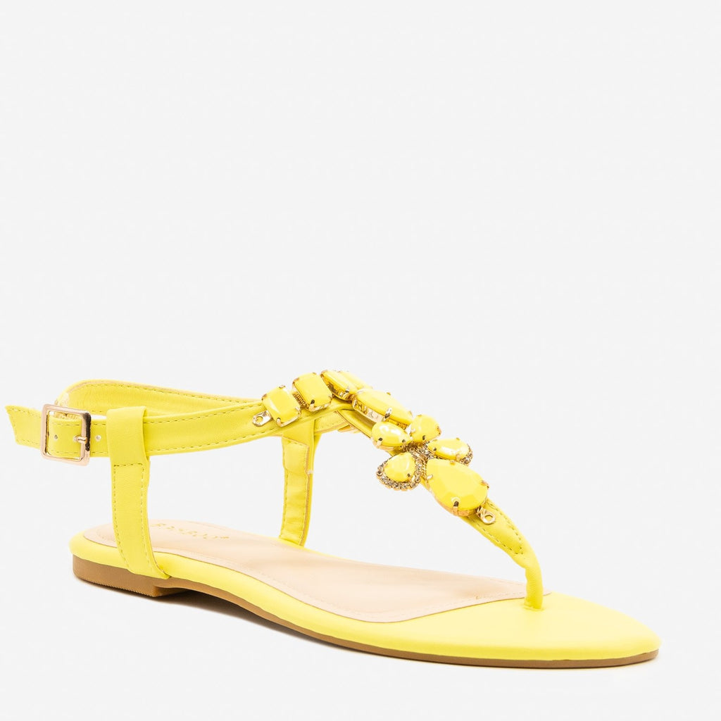 Women's Bright Pastel Gem Sandals - Bamboo Shoes