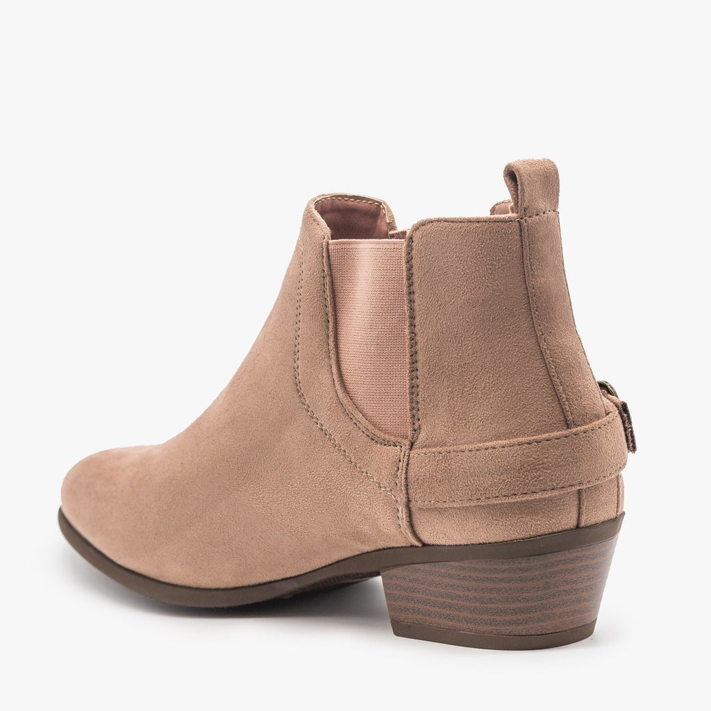 Womens Buckled Ankle Booties - Refresh