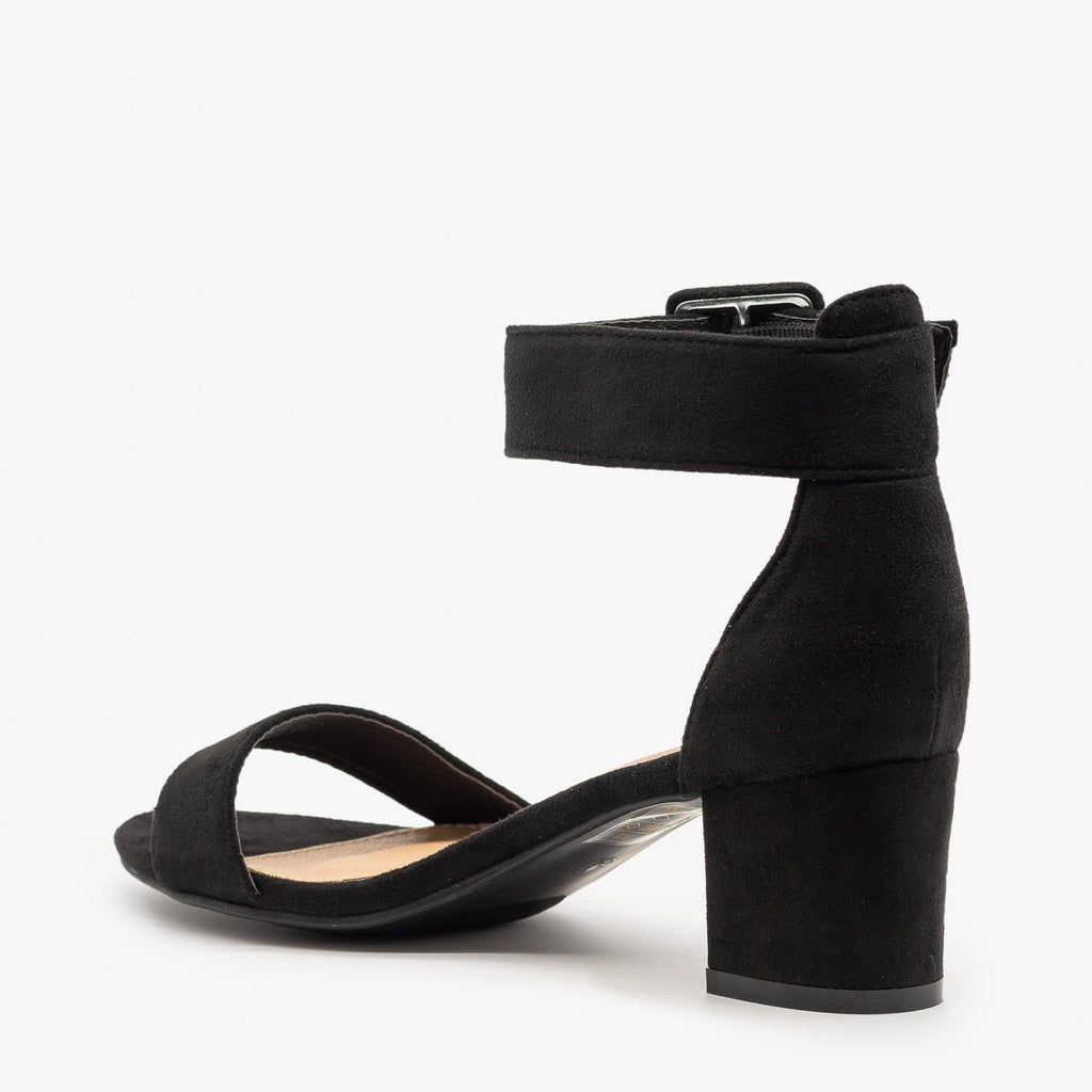 Womens Buckled Ankle Strap Heels - Bella Marie