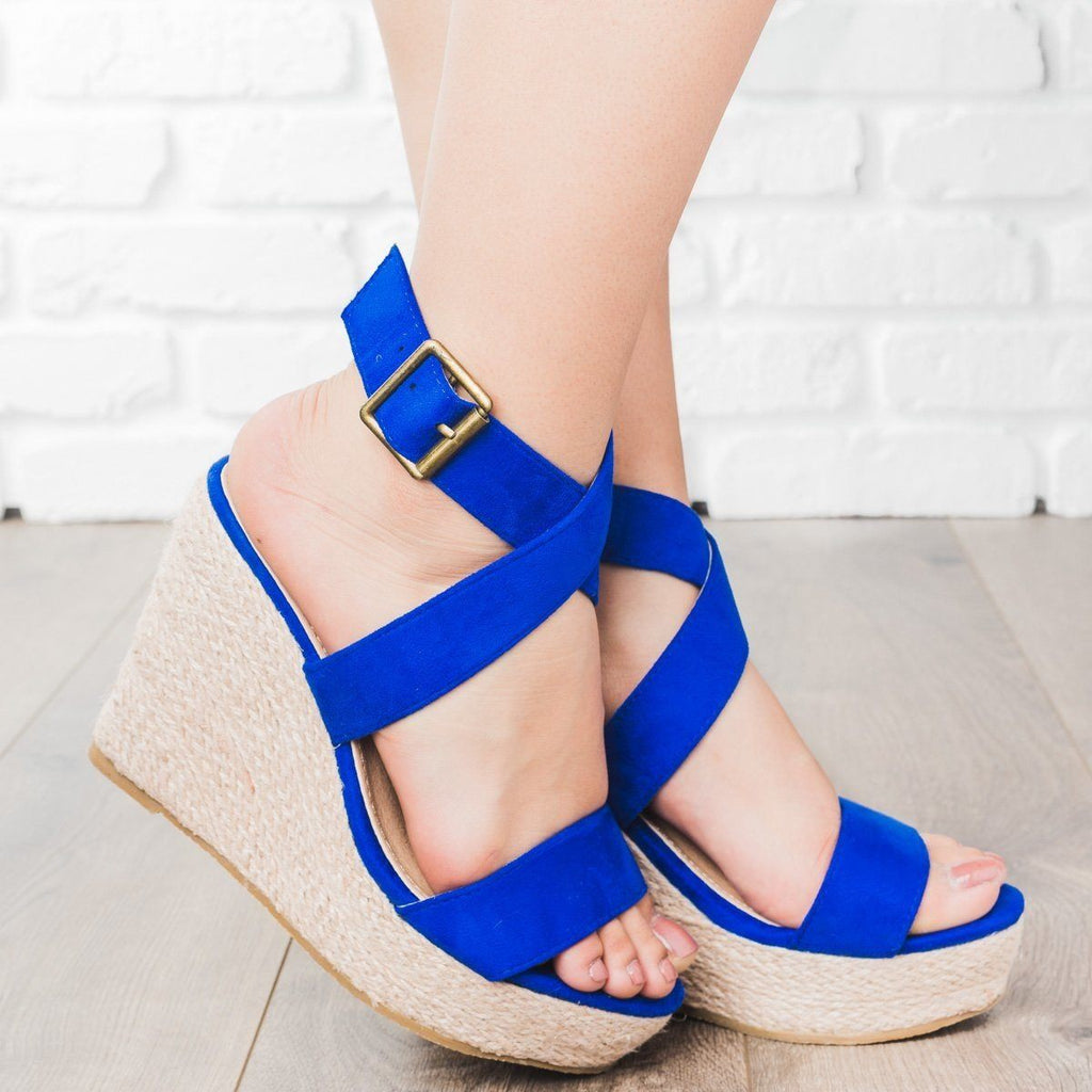 Womens Buena Strappy Espadrille Wedges - Beast Shoes