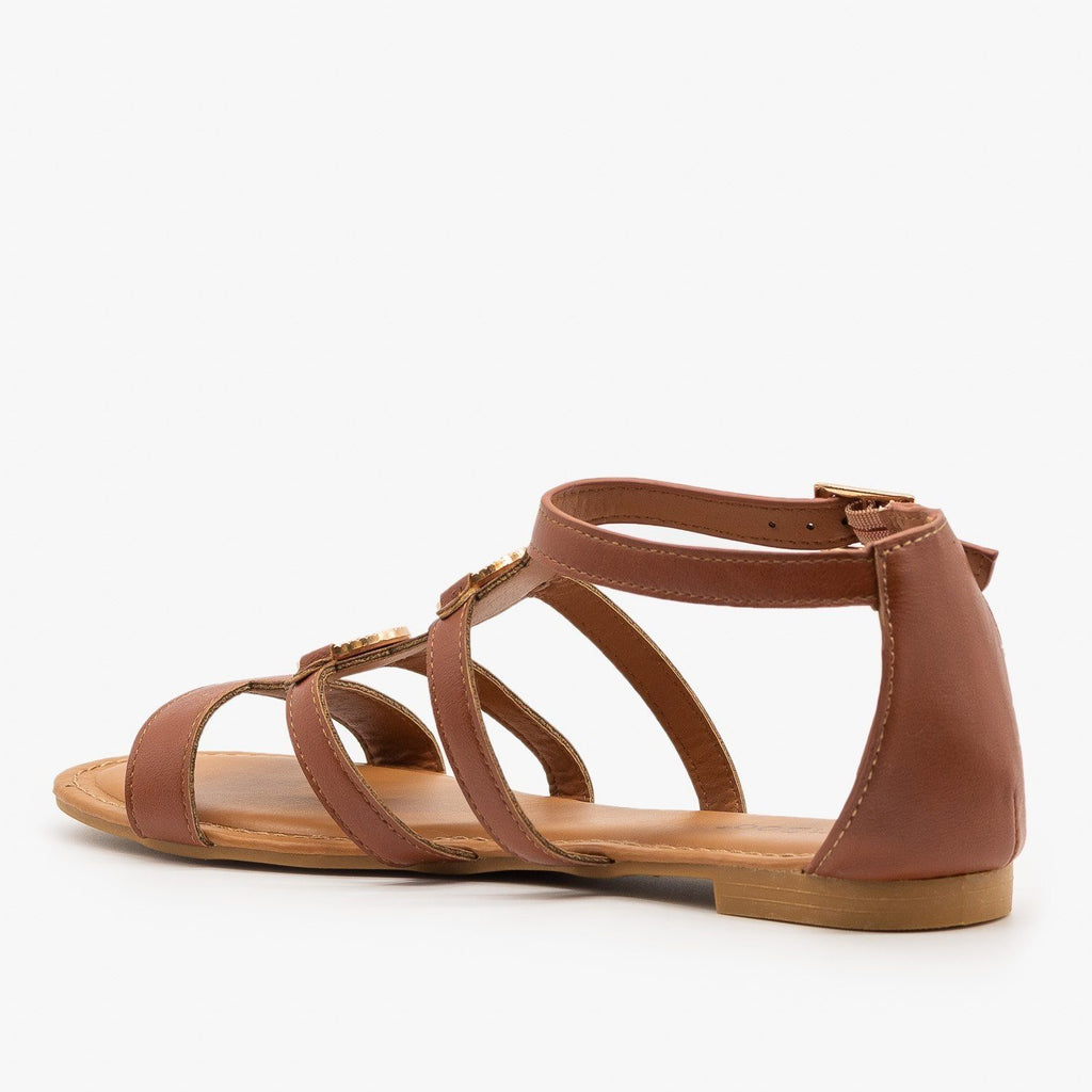 Womens Caged Medallion Sandals - Bamboo Shoes