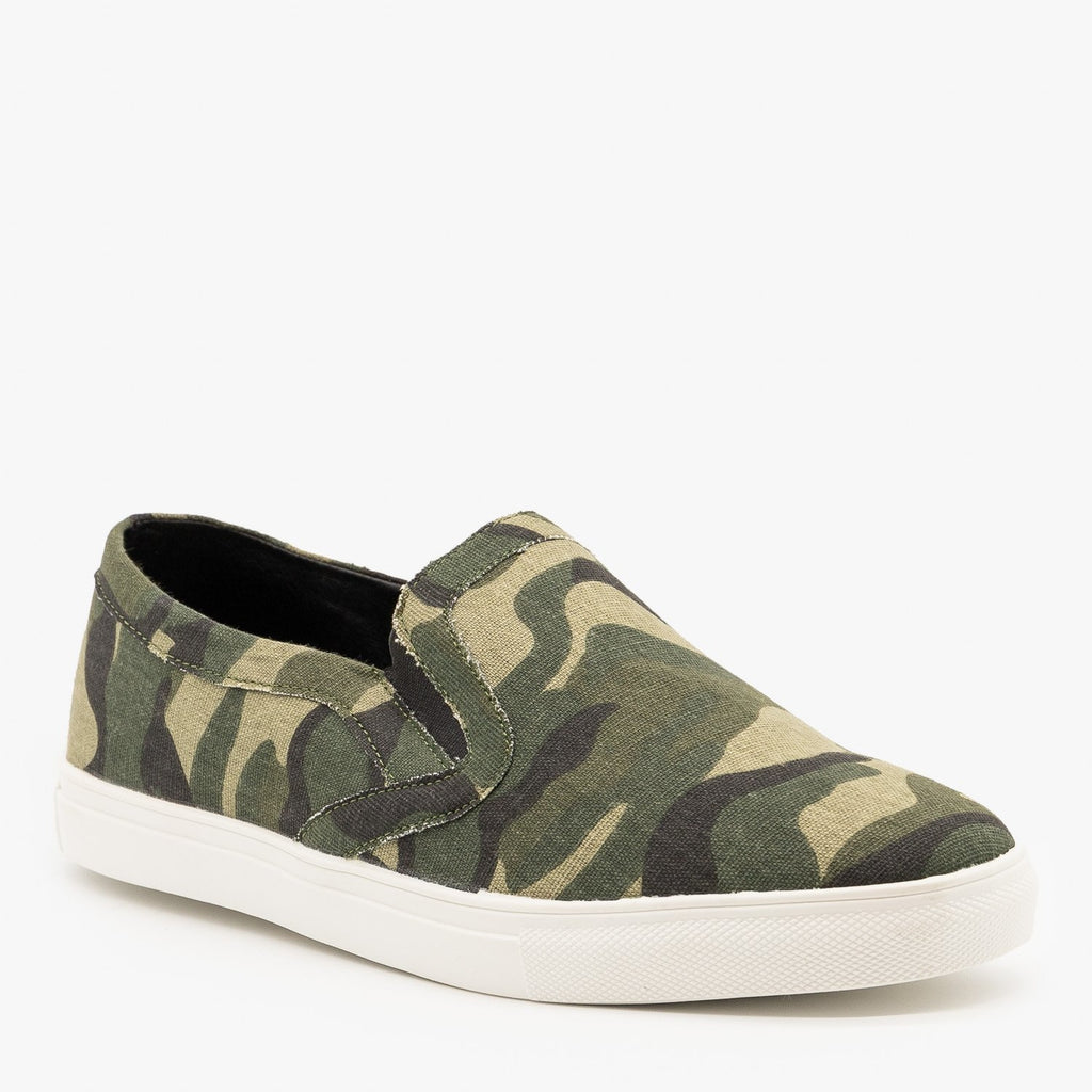 Womens Camo Slip On Fashion Sneakers - Mata