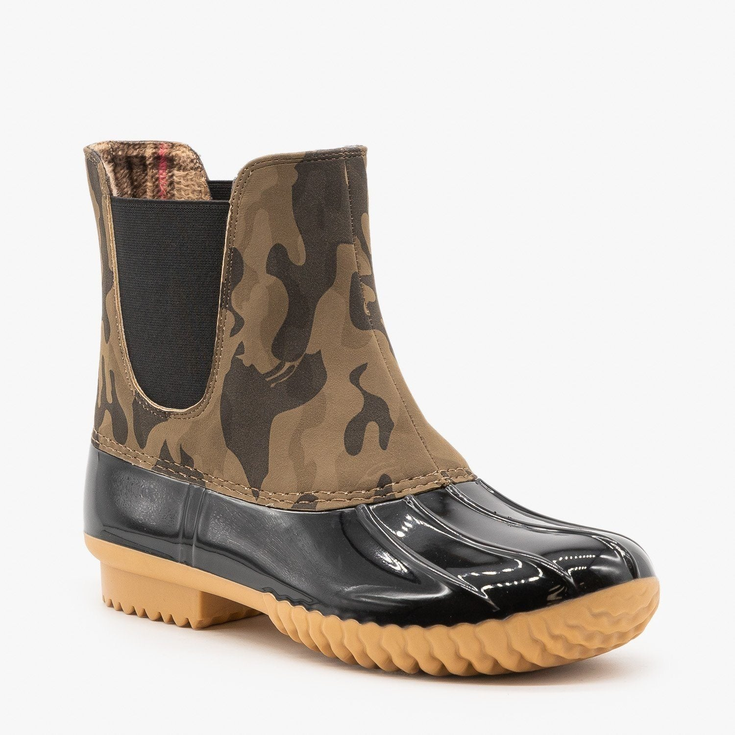 Camouflage Slip On Duck Boots - Nature