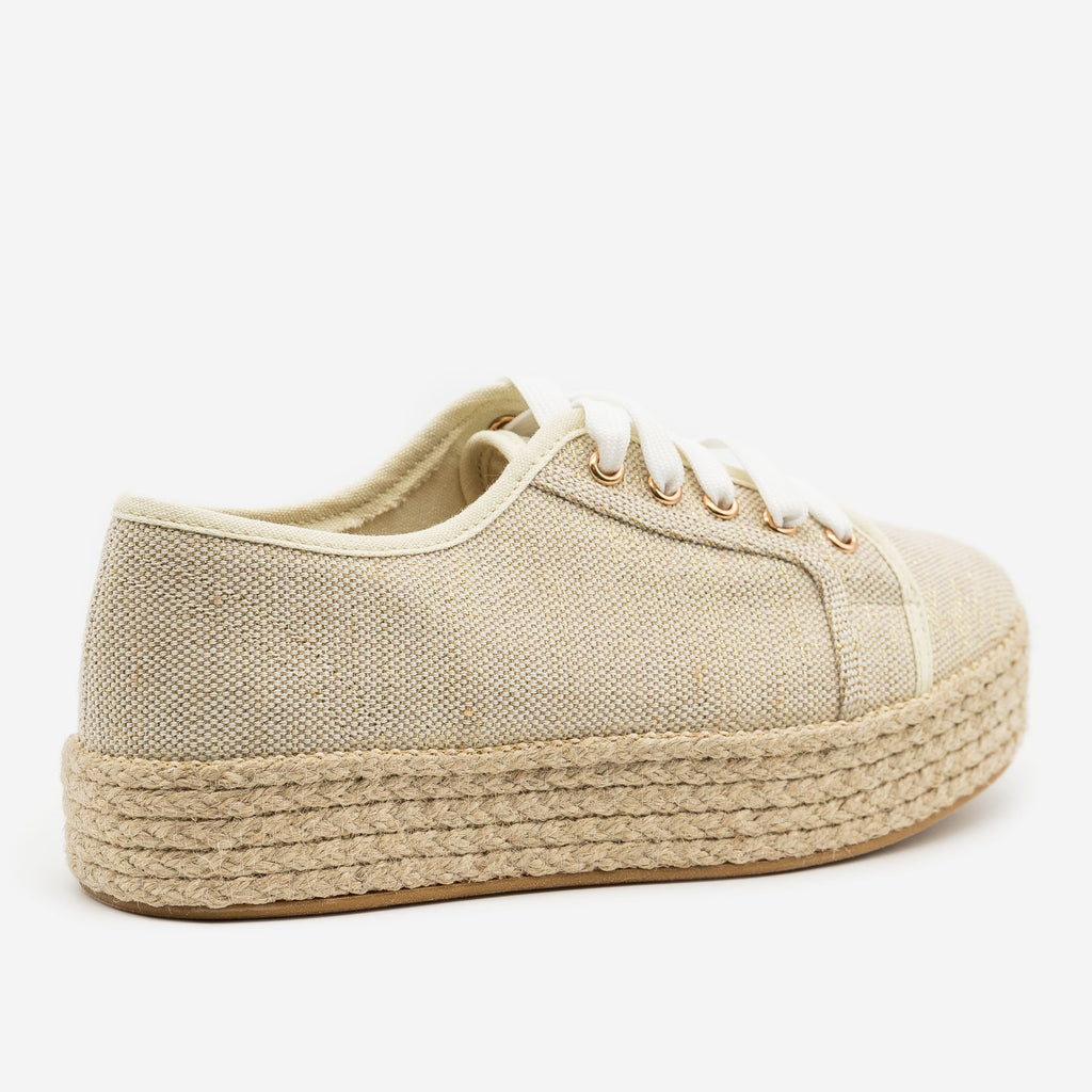 Women's Canvas Espadrille Platform Sneakers - Bamboo Shoes