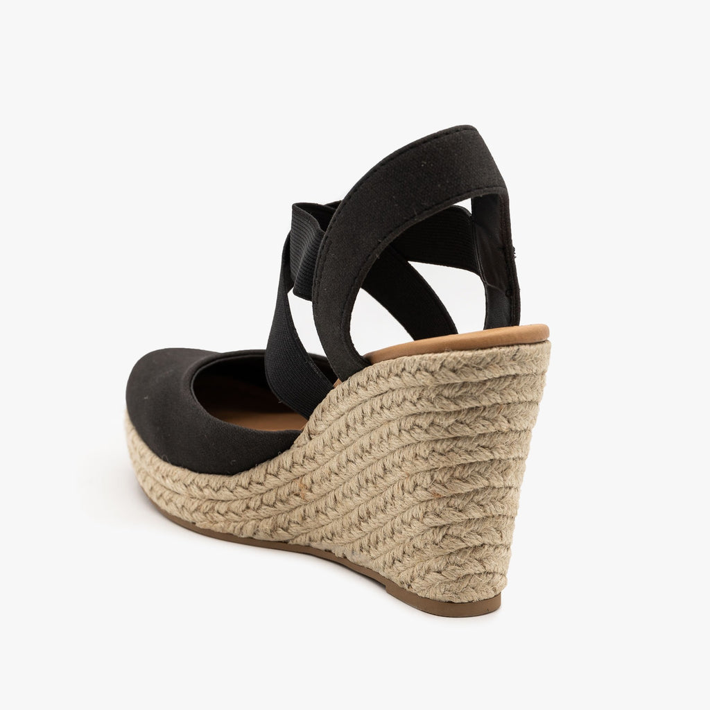Womens Canvas Espadrille Sandal Wedges - City Classified Shoes