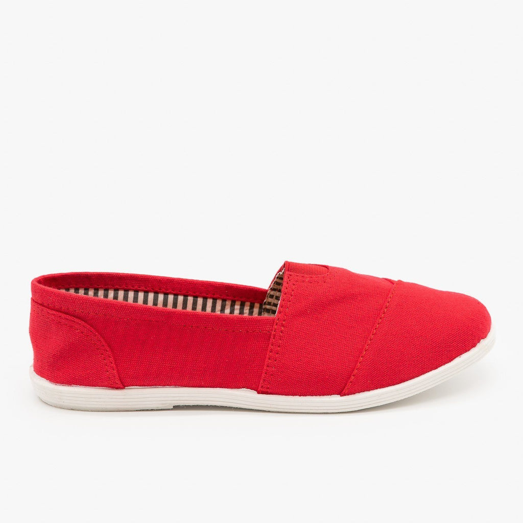 Womens Canvas Slip-On Flats - Forever