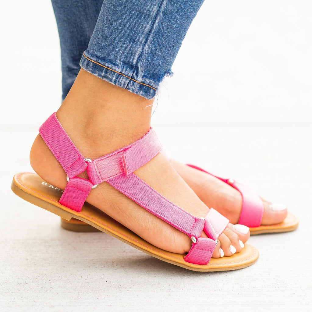 Womens Casual Comfy Velcro Sandals - Bamboo Shoes
