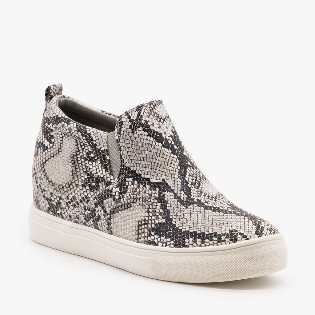 Womens Casual Slip On Fashion Sneakers - Top Moda - Snake / 5