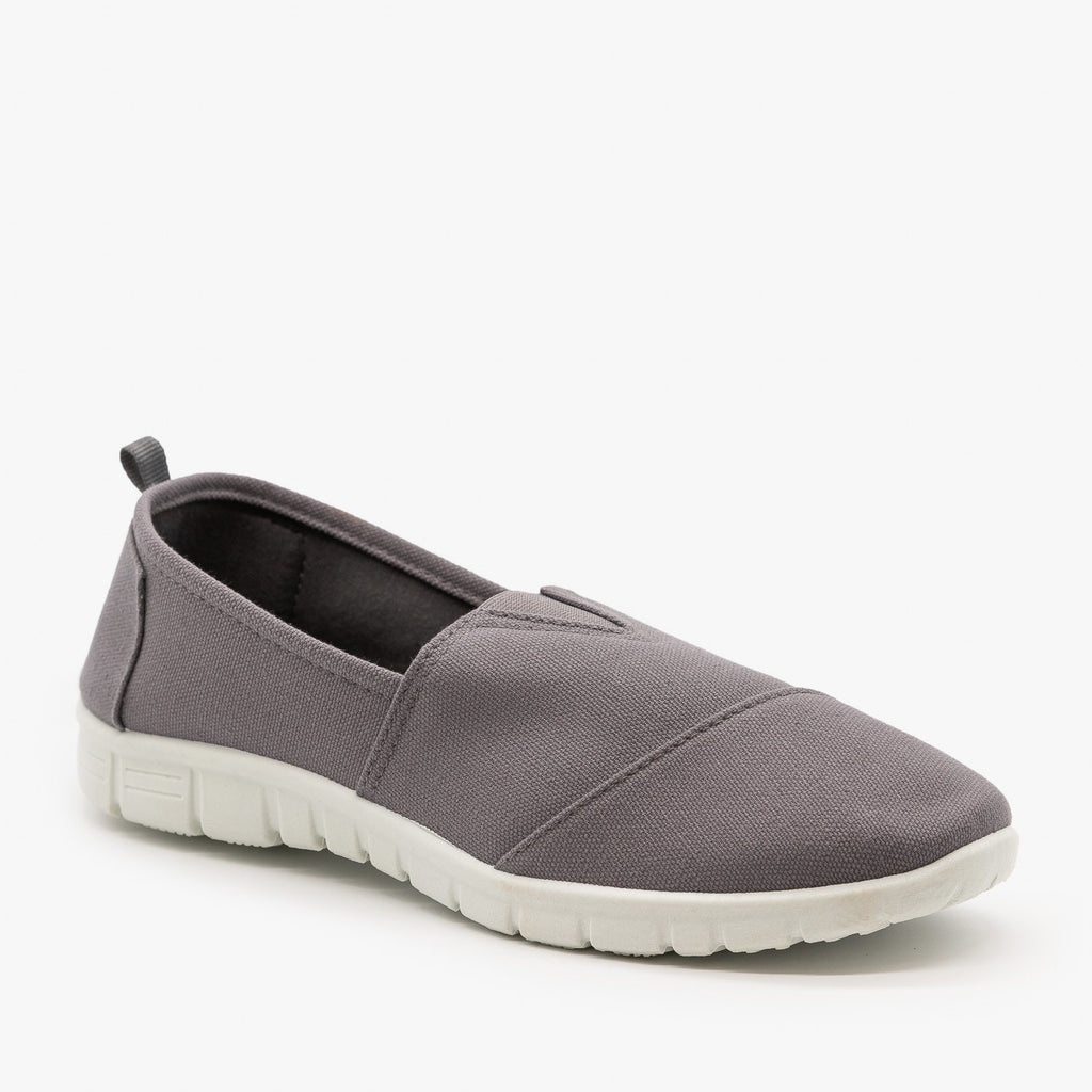 Womens Casual Slip-On Sneakers - Refresh - Gray / 5