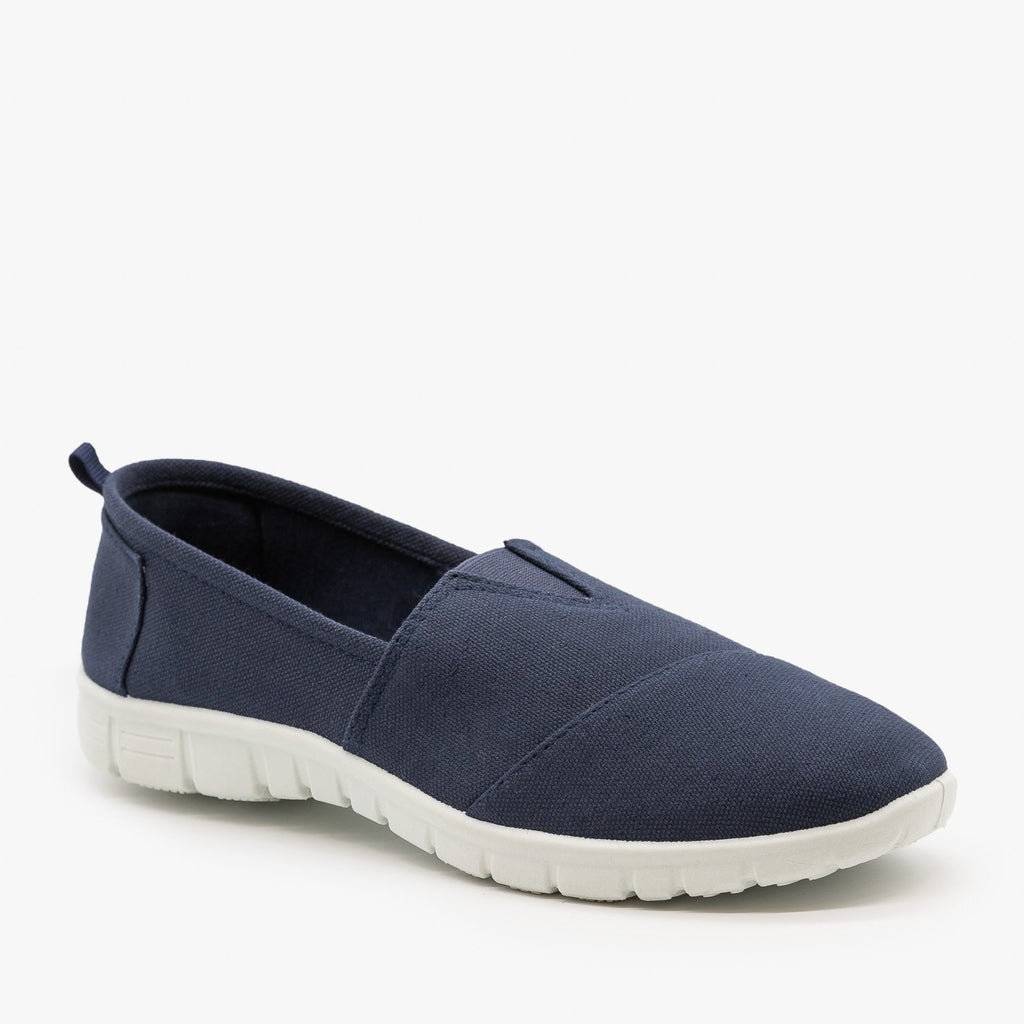 Womens Casual Slip-On Sneakers - Refresh - Navy / 5