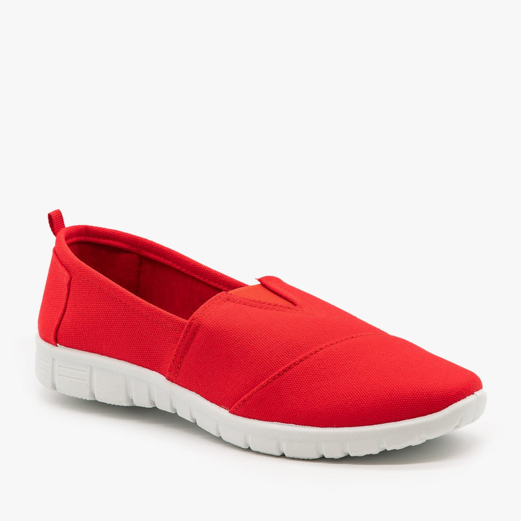 Womens Casual Slip-On Sneakers - Refresh - Red / 5