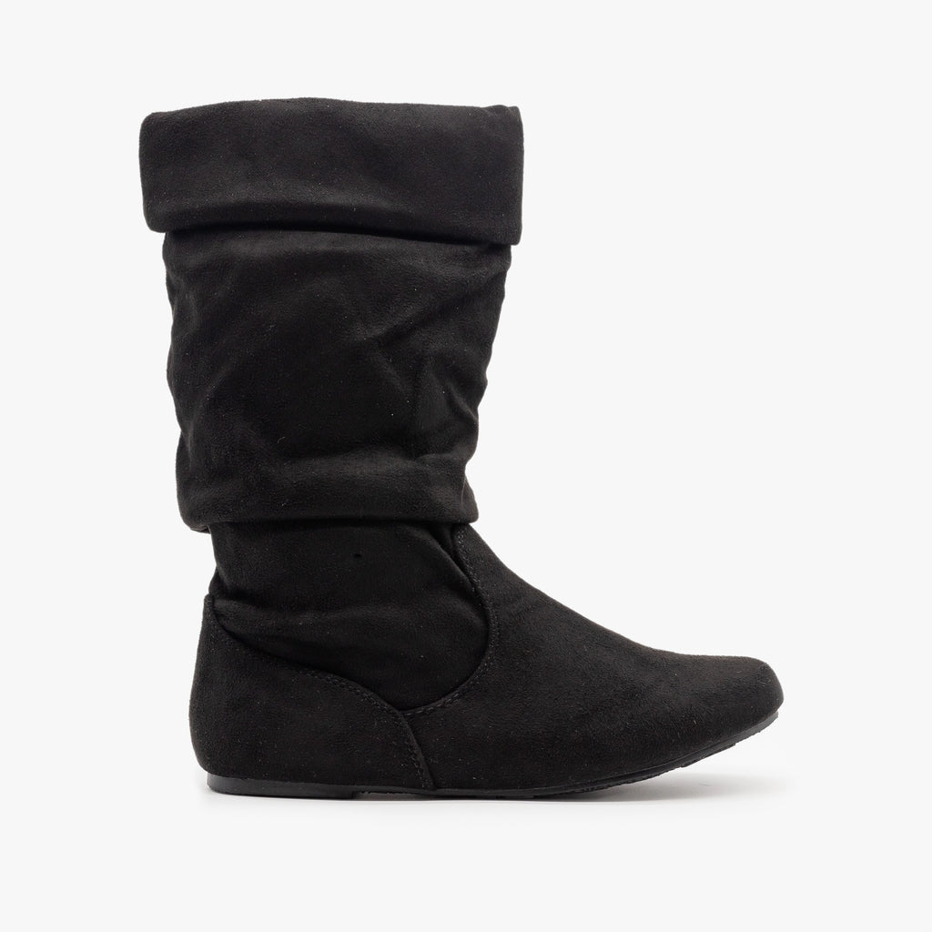 Womens Casual Slouchy Boots - Forever - Black / 5