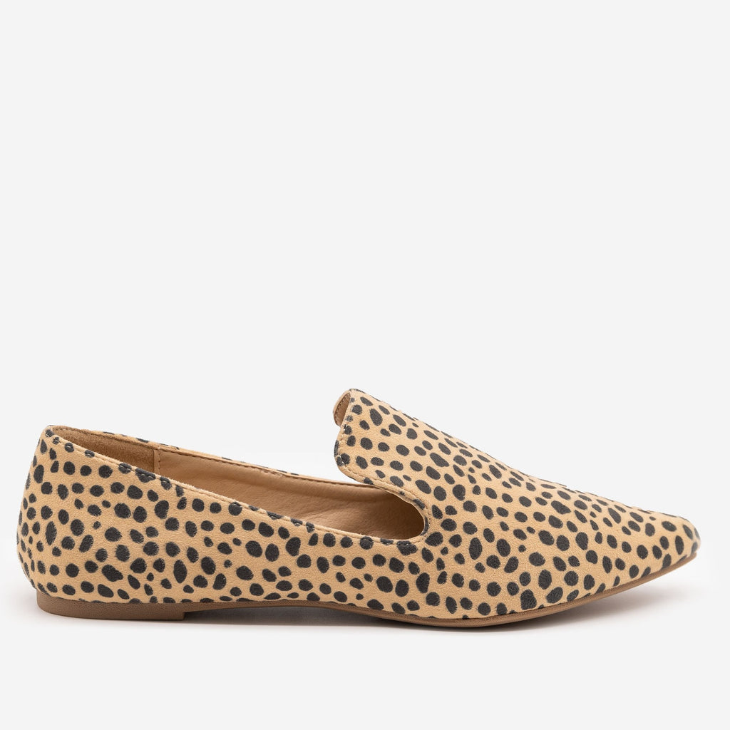 Women's Cheetah Print Loafers - Mata - Cheetah / 5