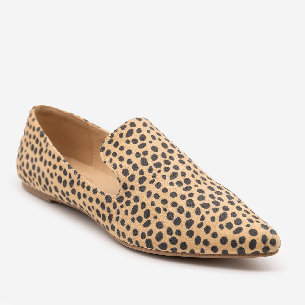 Women's Cheetah Print Loafers - Mata