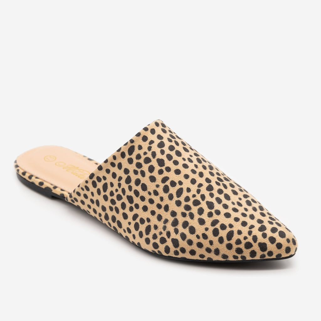 Women's Cheetah Print Pointy Toe Mules - Mata