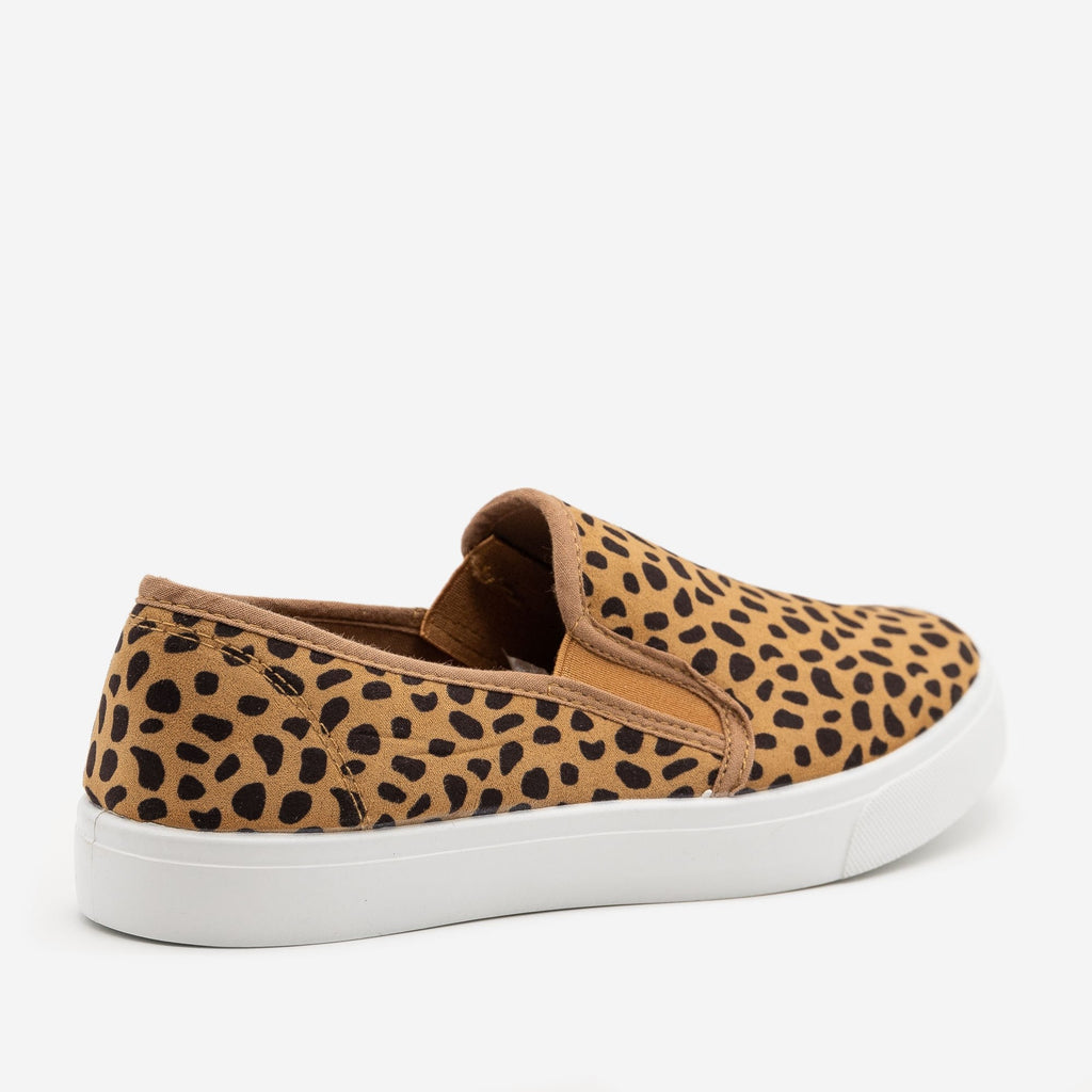Women's Cheetah Slip On Sneakers - Bamboo Shoes