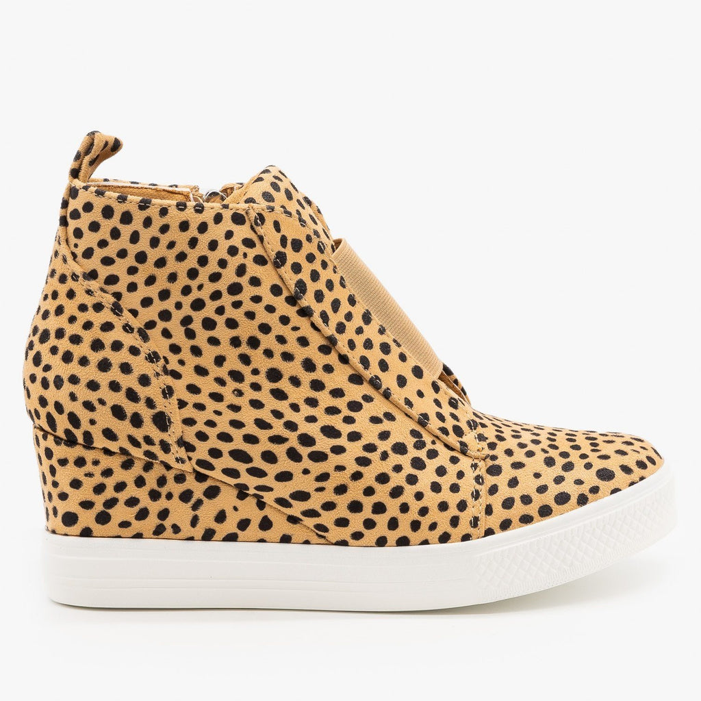 Womens Cheetah Sneaker Wedges - CCOCCI - Cheetah / 5