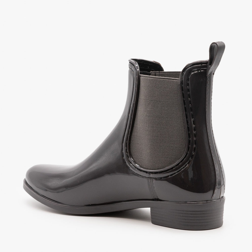 Womens Chelsea Rain Booties - Forever