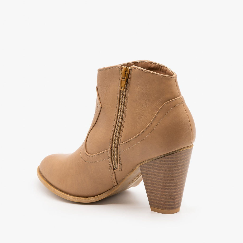Womens Chic and Classy Cowboy Booties - Bamboo Shoes