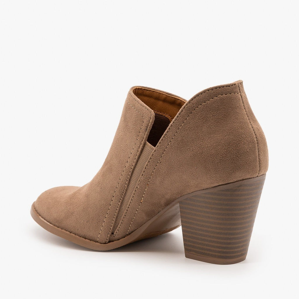 Womens Chic Ankle Booties - City Classified Shoes