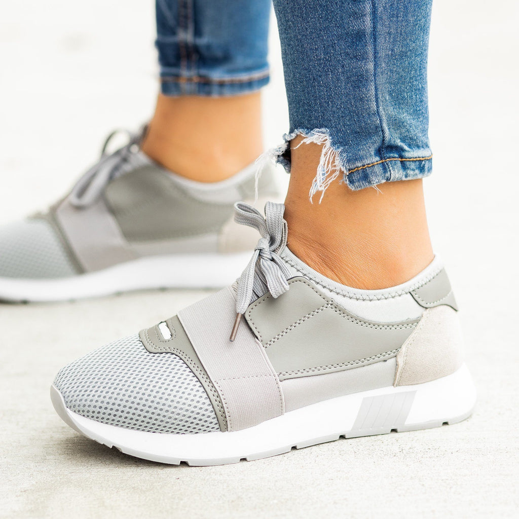 Womens Chic Athleisure Sneakers - Weeboo