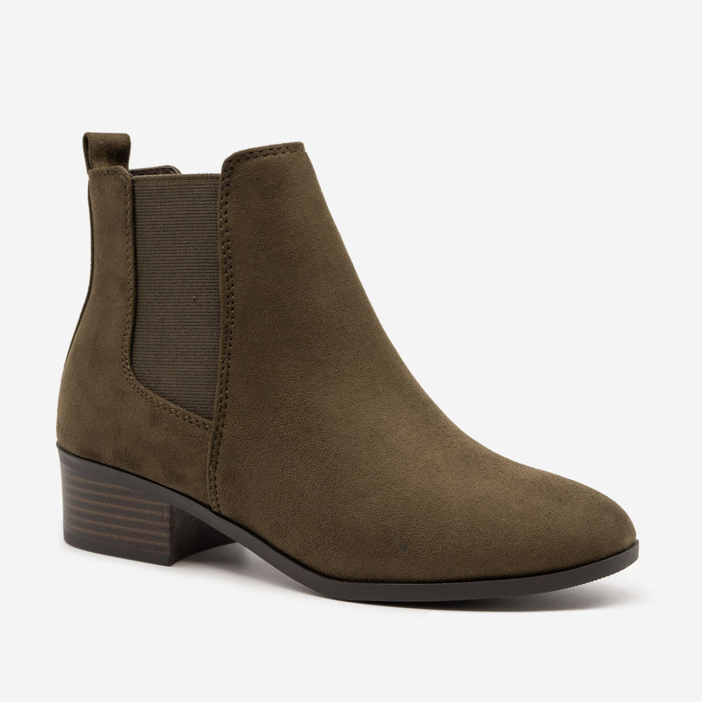Women's Chic Block Heel Chelsea Boots - Soda Shoes
