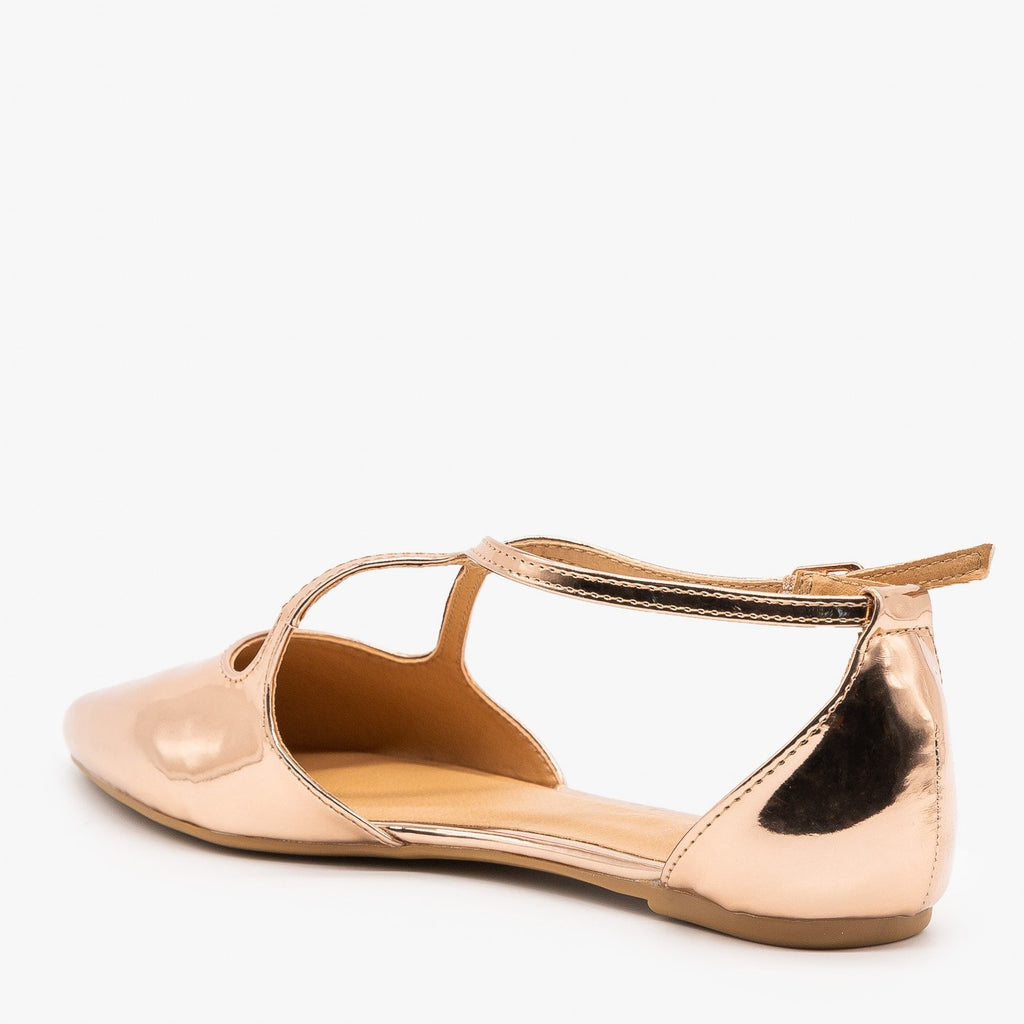 Womens Chic Criss Cross Ballet Flats - Bamboo Shoes