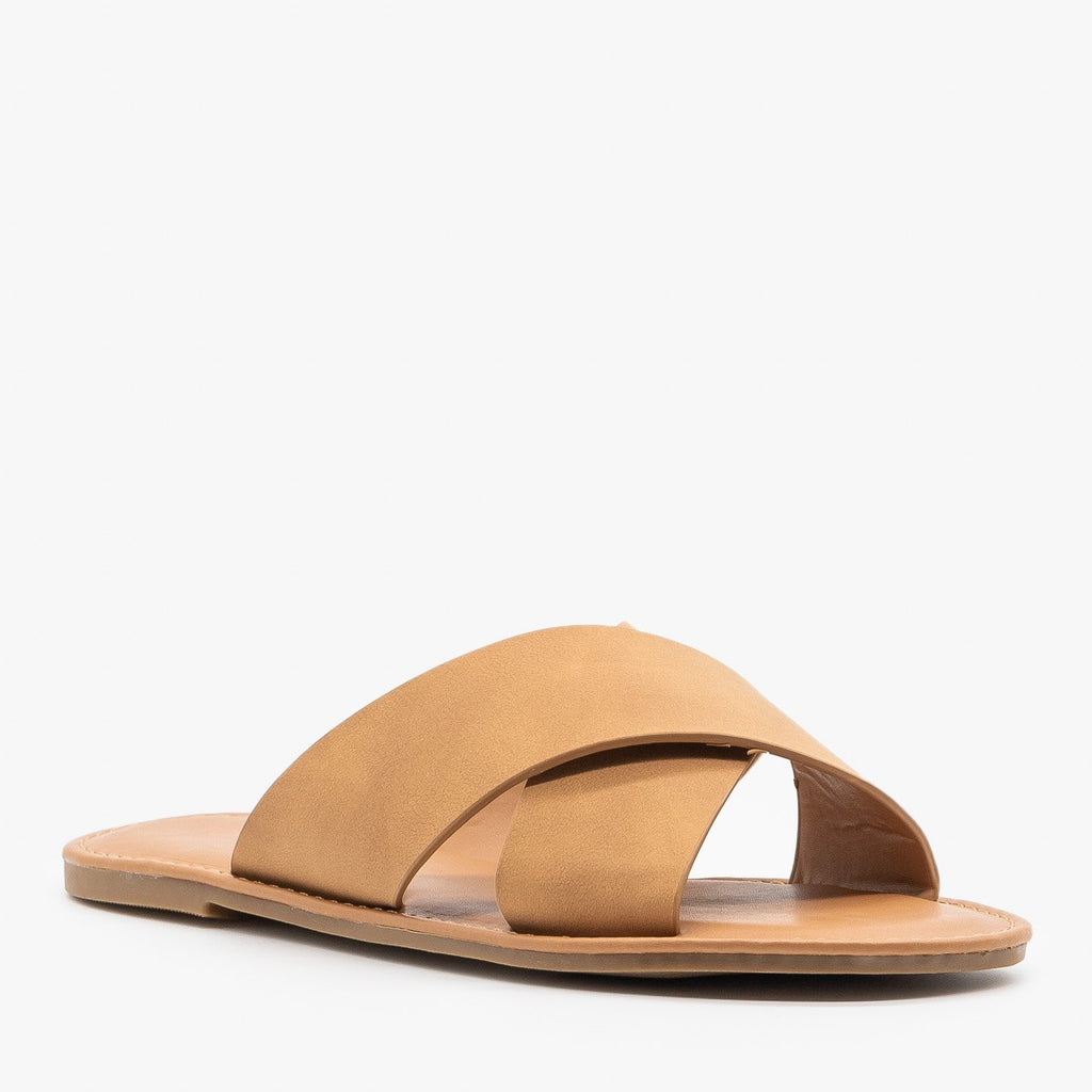 Womens Chic Crossover Sandals - Top Moda