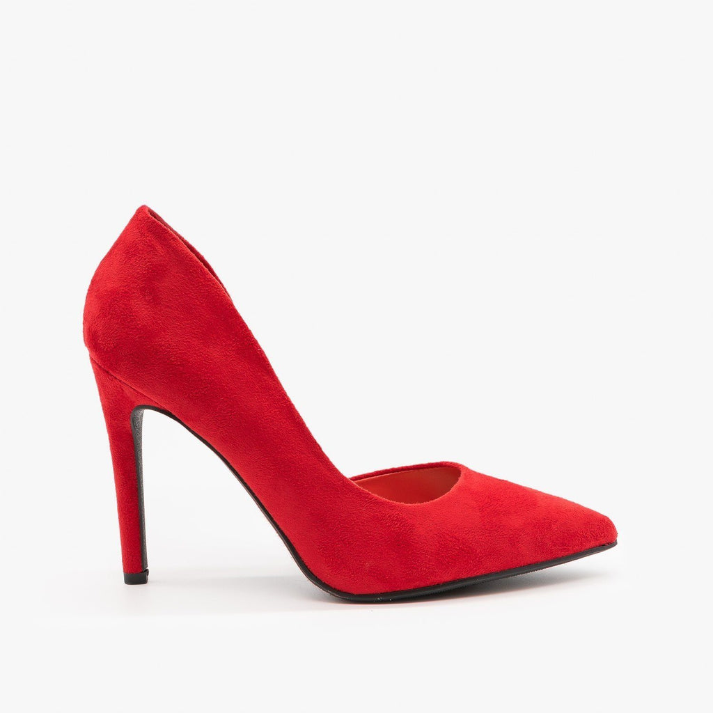 Womens Chic DOrsay High Heels - de - Red / 5