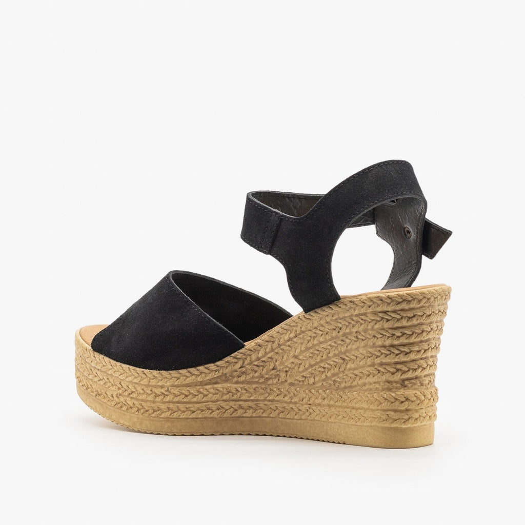 Womens Chic Espadrille Wedge Sandals - Bamboo Shoes