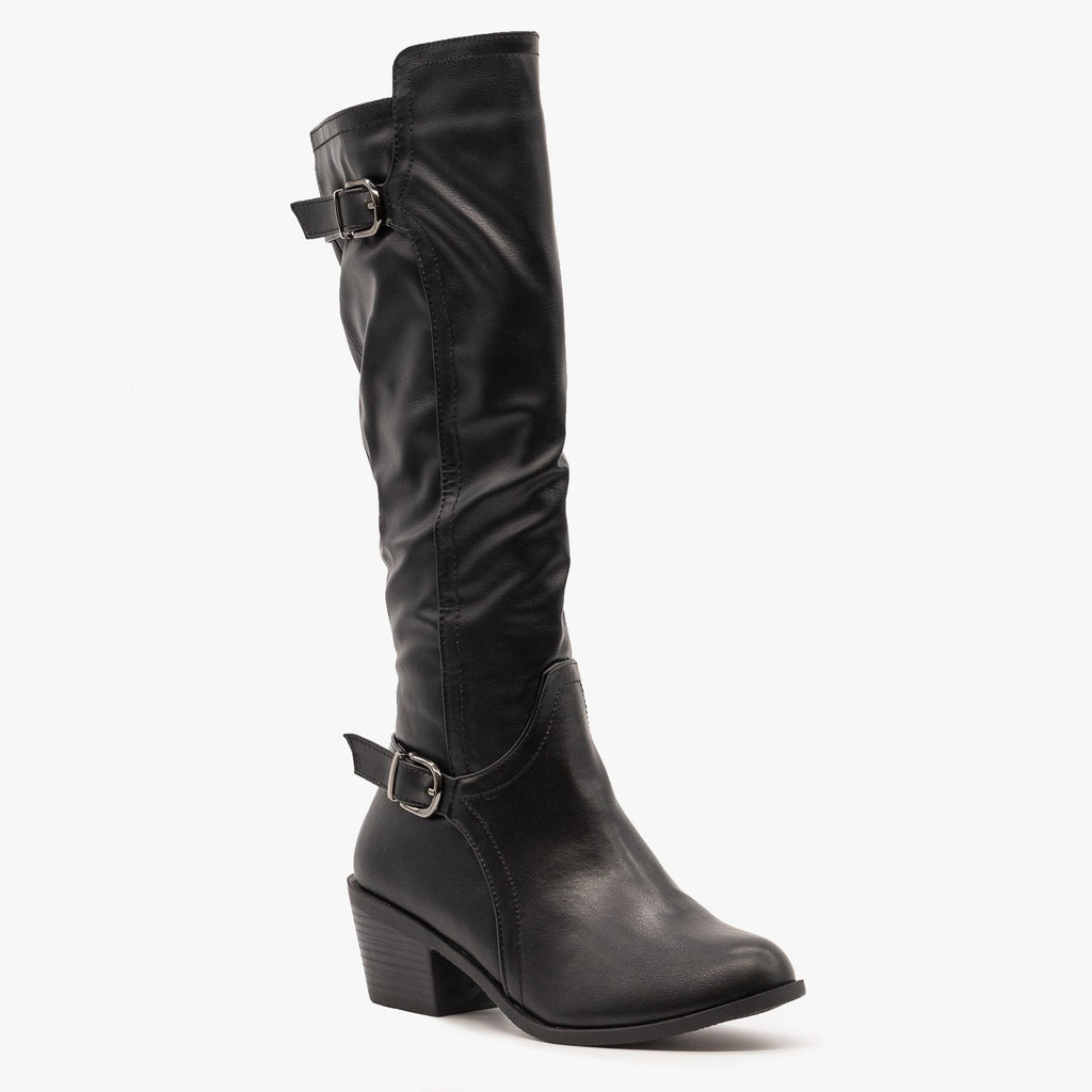 Womens Chic Fall Riding Boots - Fashion Focus