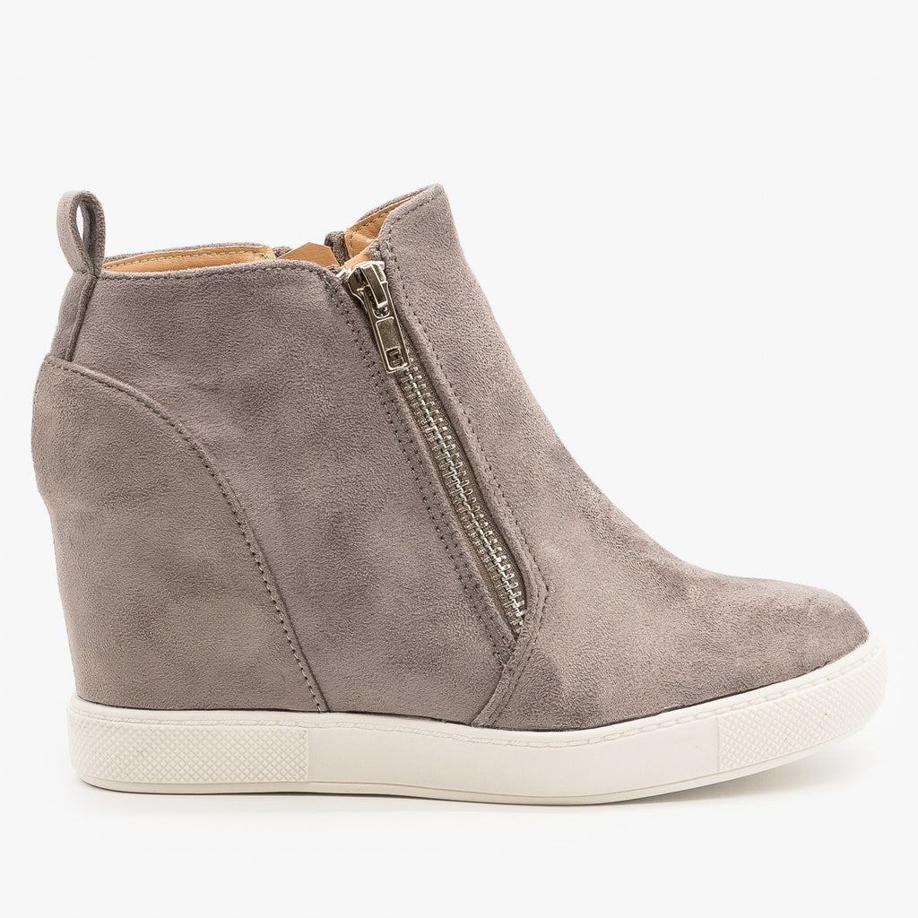 Chic Inner Wedge Sneakers - AMS Shoes