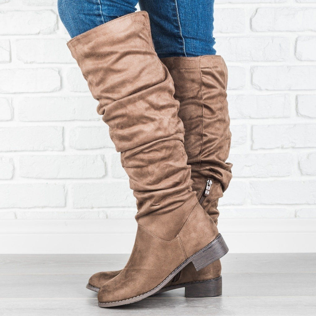 Womens Chic Knee-High Riding Boots - Nature Breeze
