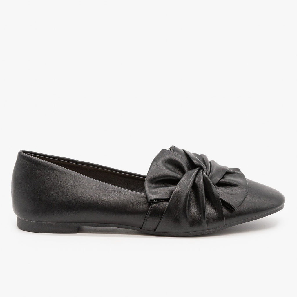 Womens Chic Knotted Flats - Weeboo