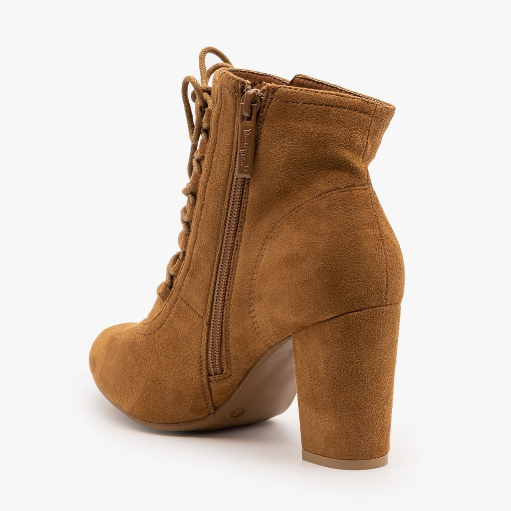 Womens Chic Lace Up Booties - Nature Breeze