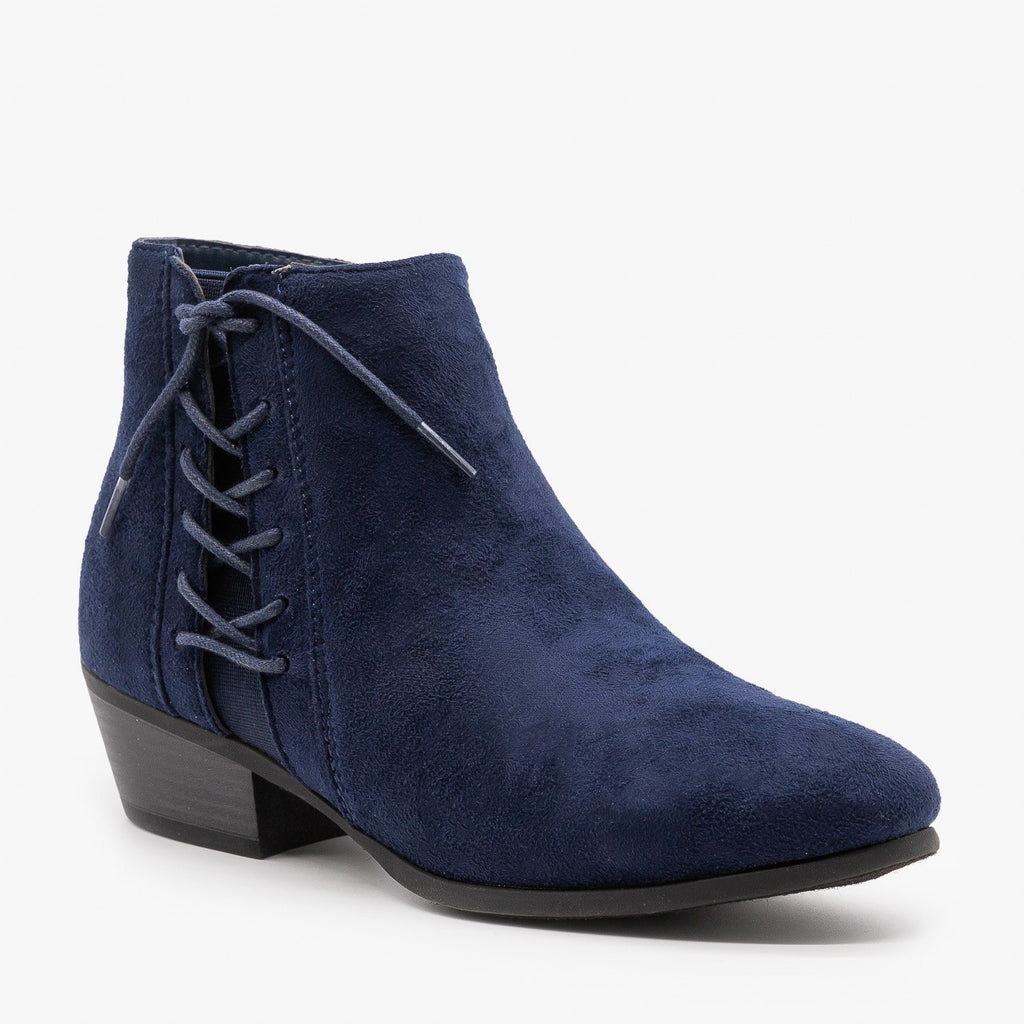 Womens Chic Lace-Up Fall Booties - Refresh