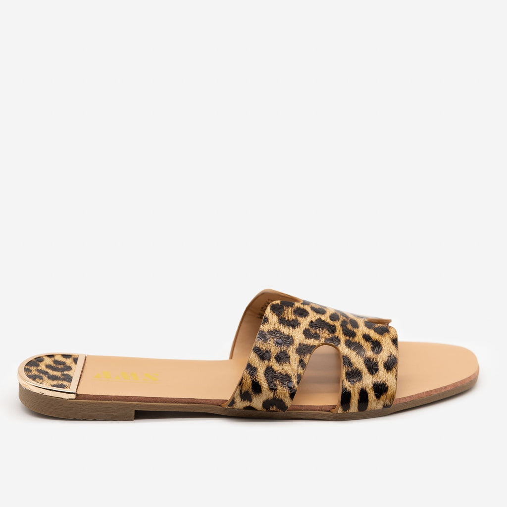 Women's Chic Leopard Print Sandals - AMS Shoes