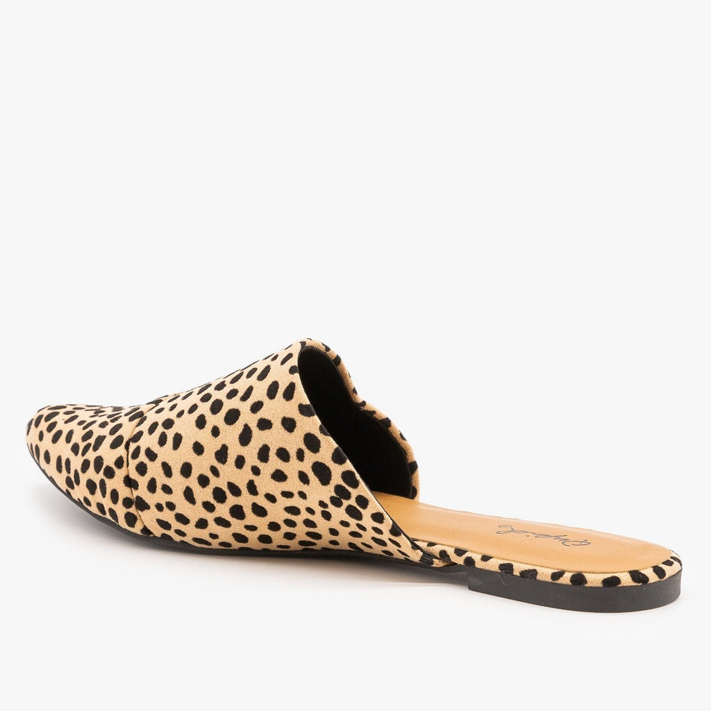 Womens Chic Leopard Print Wrapped Mules - Qupid Shoes