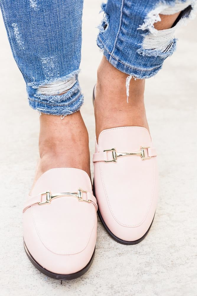 Womens Chic Loafer Flats - Breckelles - Blush / 5