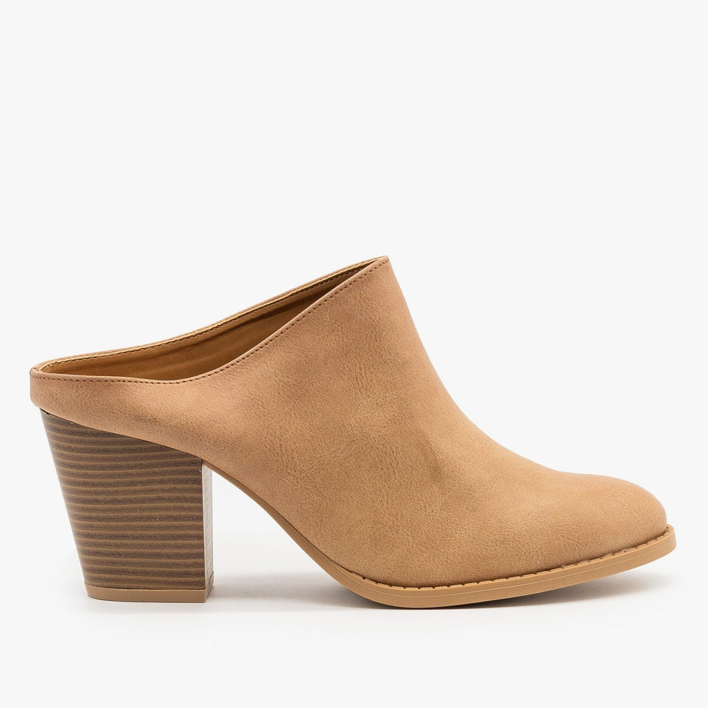 Womens Chic Mule Booties - Qupid Shoes