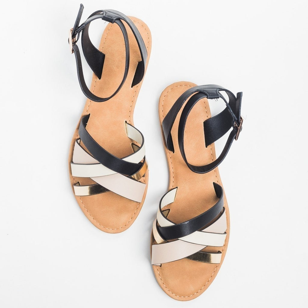 Womens Chic Multi Sandals - Bamboo Shoes