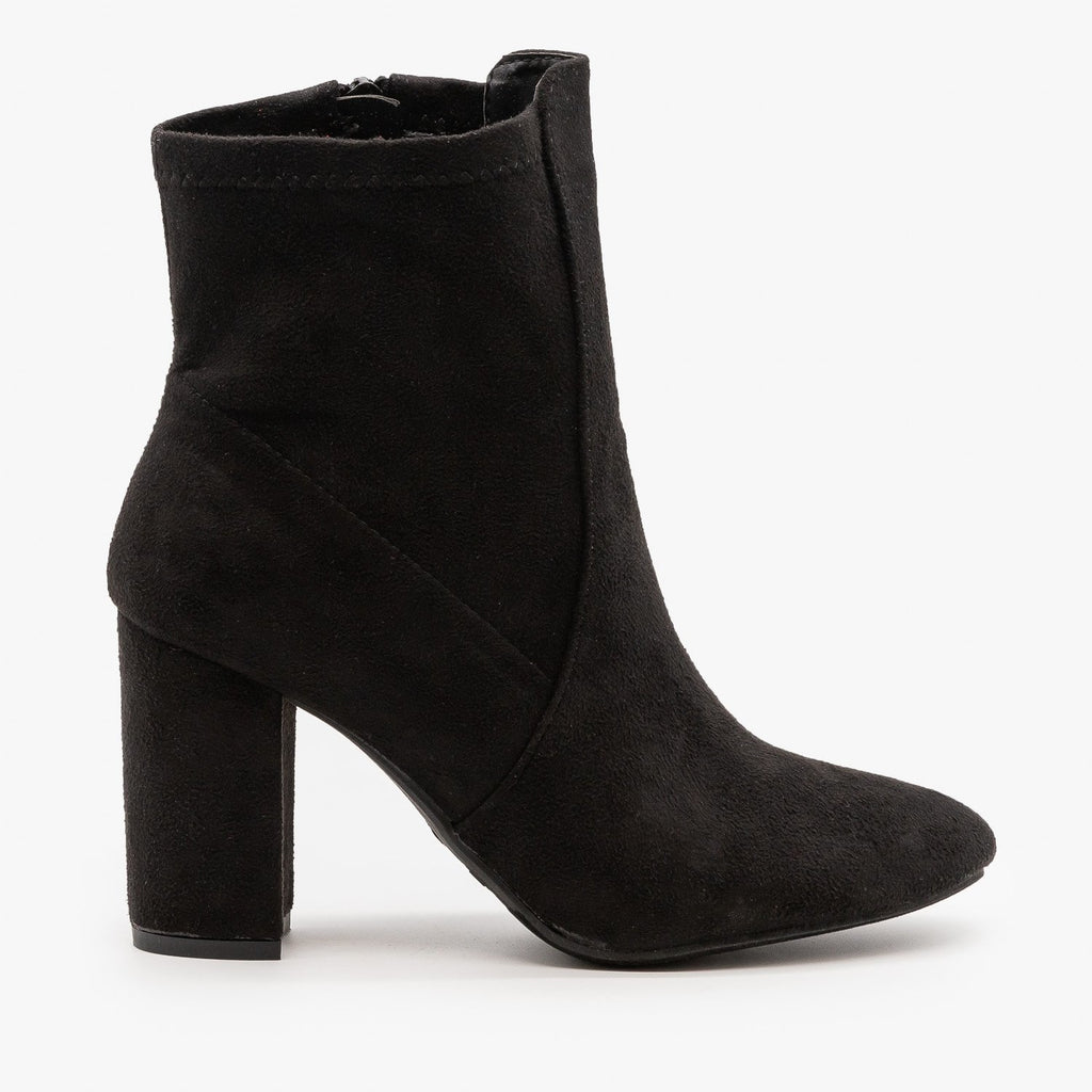 Womens Chic Party Booties - Top Moda - Black / 5