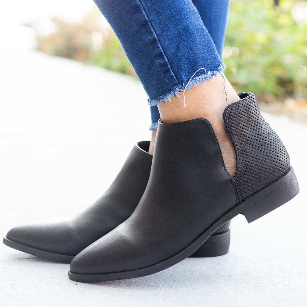 Womens Chic Pinhole Back Bootie - Bamboo Shoes