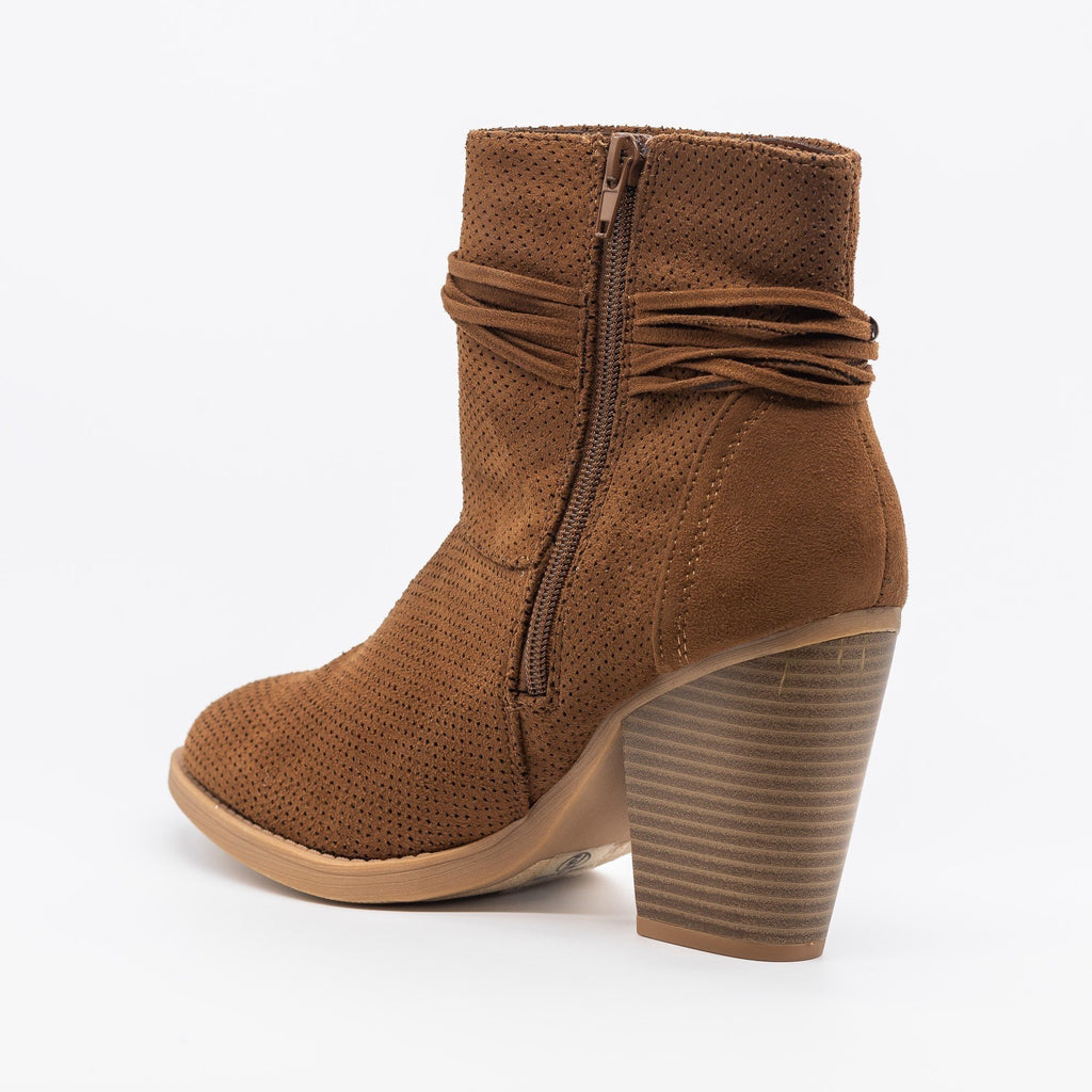 Womens Chic Pinhole Fashion Booties - Soda Shoes