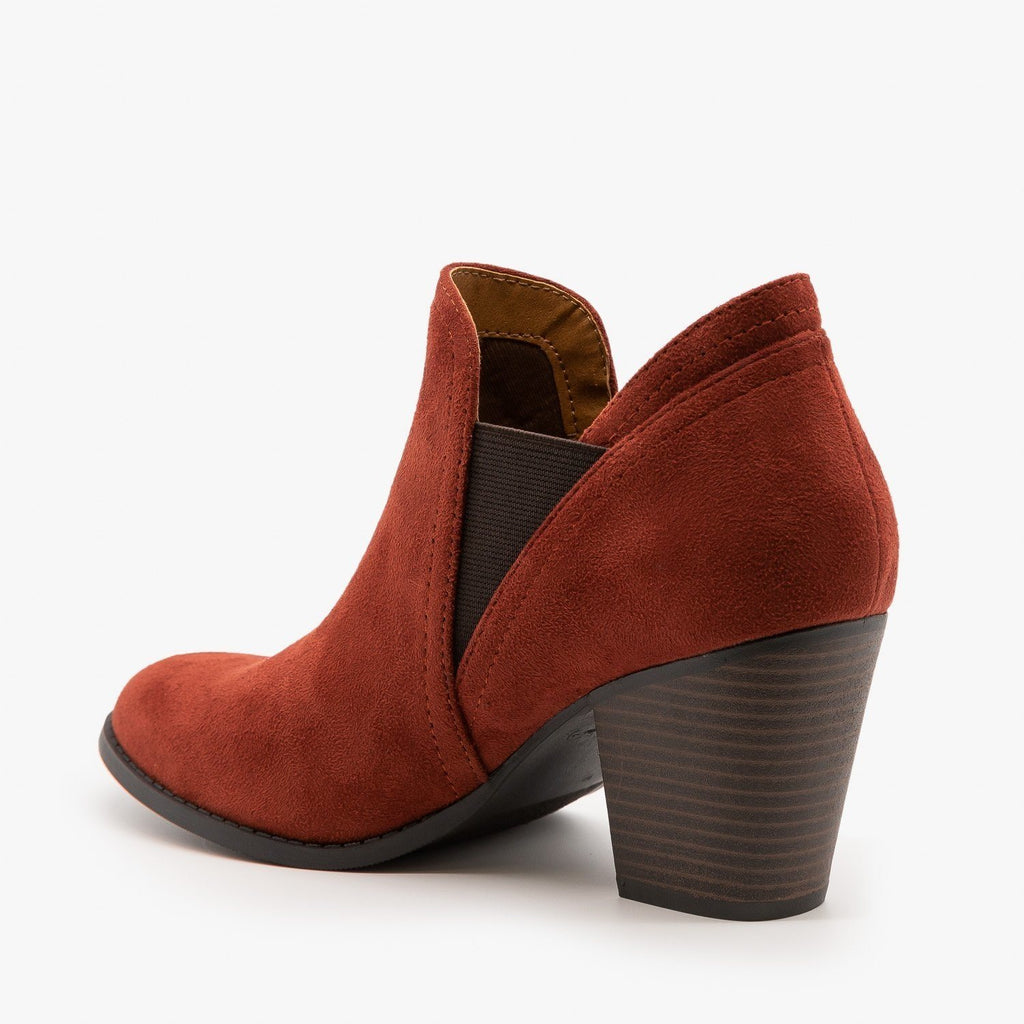 Womens Chic Slip On Booties - City Classified Shoes