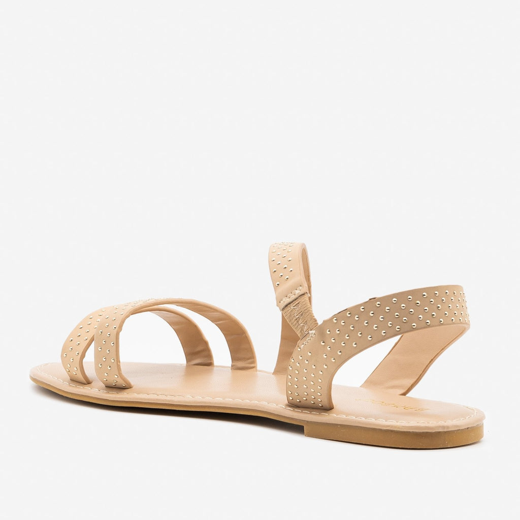 Women's Chic Studded Sandals - Bamboo Shoes