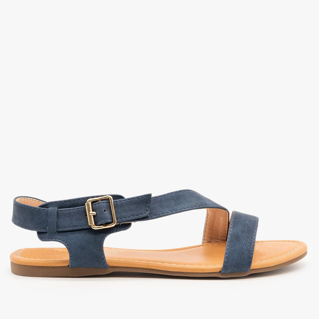 Womens Chic Summer Sandals - Cherish - Navy / 5