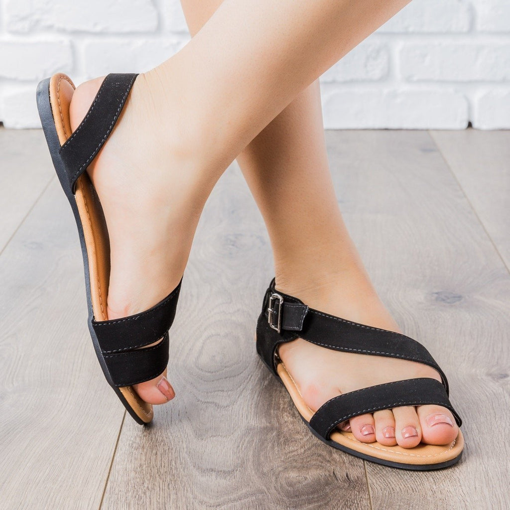 Womens Chic Summer Sandals - Cherish - Black / 5