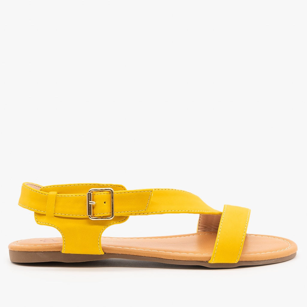 Womens Chic Summer Sandals - Cherish - Yellow / 5