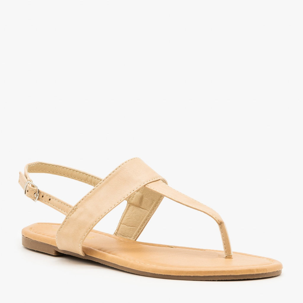 Womens Chic T-Strap Sandals - Lovmark